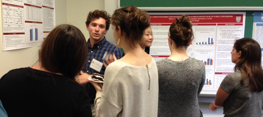 Presentations at an event in the Department of Psychology at the University of Chicago.
